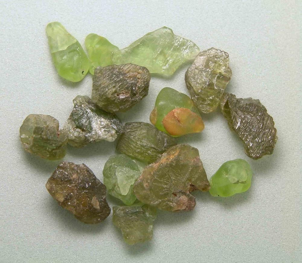 Rough Peridot Crystals GemA