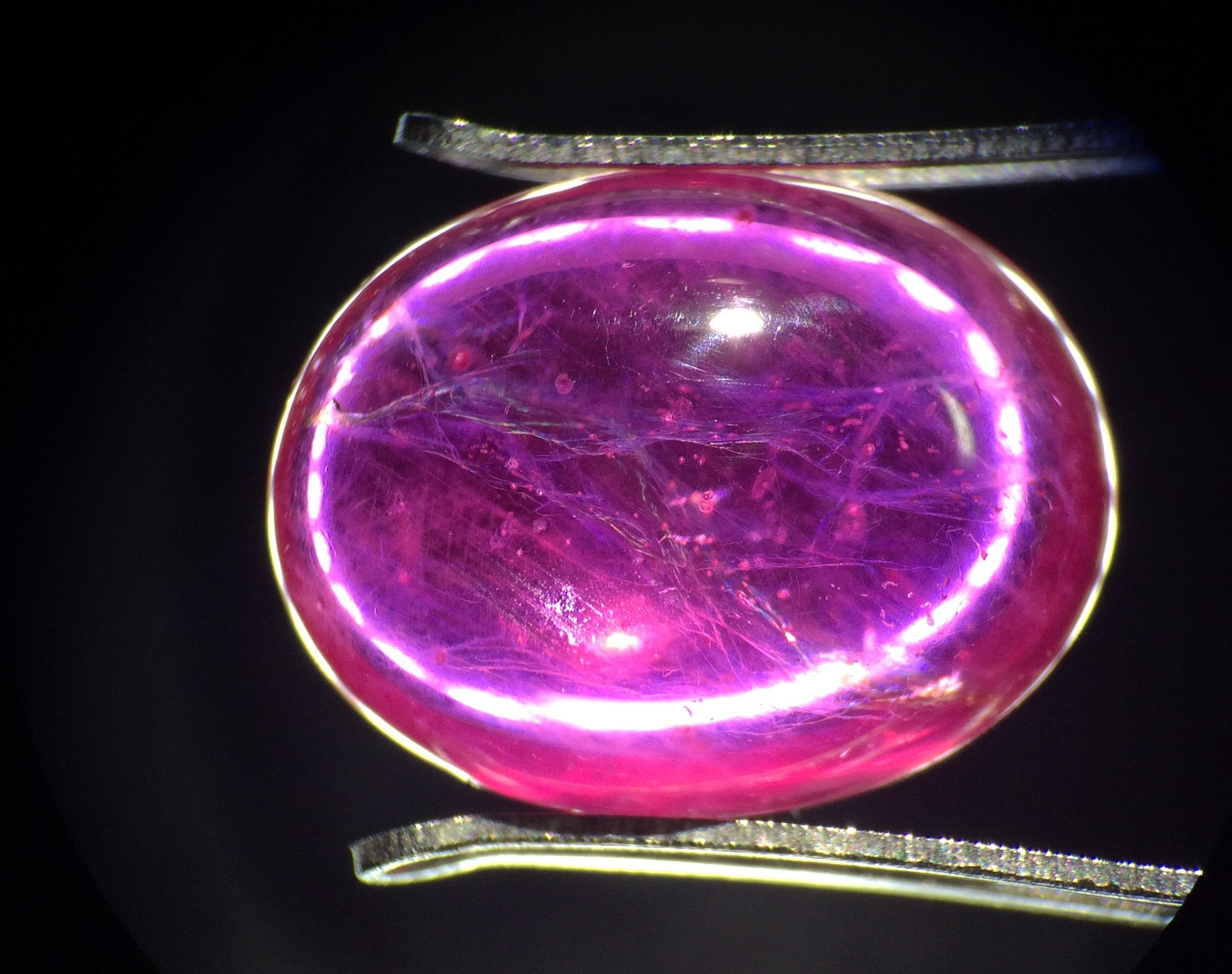 Flashes and Cracks in a Glass Filled Ruby Ruby Treatments Gem A Blog