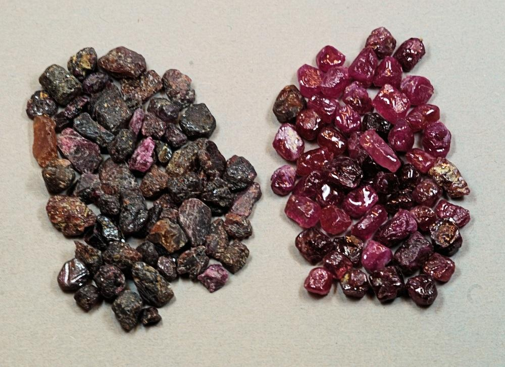 Treated Ruby Before and After Heat Treatment Gem A Blog July Birthstone