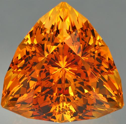 A 26.11 ct Citrine Super TrillionTM. Photo by John Dyer.