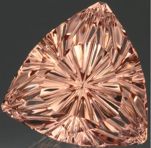 Morganite StarBriteTM 50.92 ct cut by John Dyer & Co. Photo by Lydia Dyer.