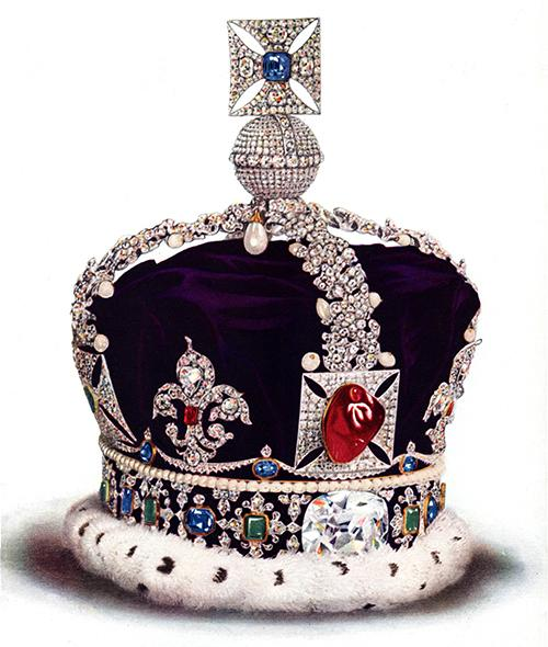 The Imperial State Crown. Copyright Cyril Davenport. Tower of London