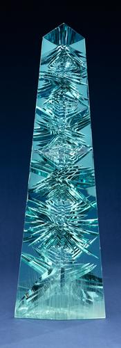 The Dom Pedro Aquamarine, cut from a large crystal mined in Minas Gerais, Brazil. Cut by Bernd Munsteiner and donated by Jane Mitchell and Jeffrey Bland to the Smithsonian in 2011. Photo Credit Don Hurlbert. Image Courtesy of Smithsonian Institution.