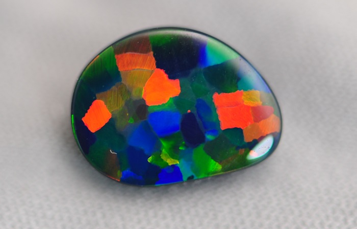 Harlequin Opal Pattern Rare Colours and Patterns in Opal Gem A Gem Hub Image Courtesy of Cody Opal