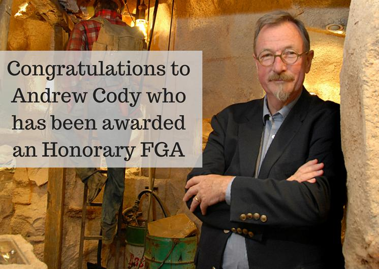 Andrew Cody Awarded Honorary FGA at Gem-A Conference 2017