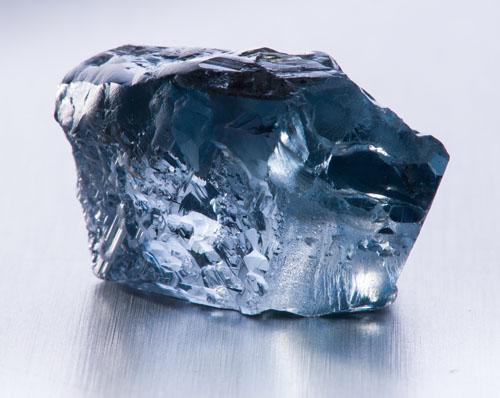 blue diamond gemstone panning