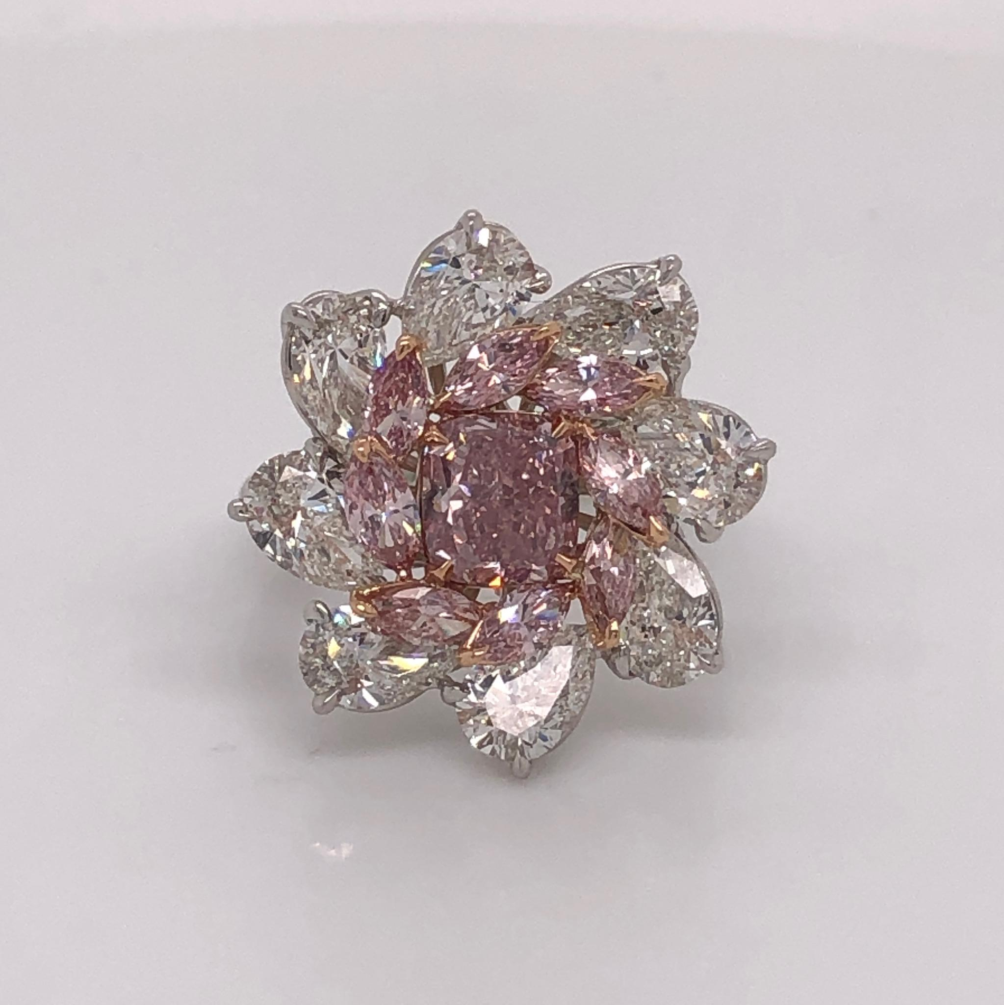 A 1.27 carat fancy intense pink diamond
