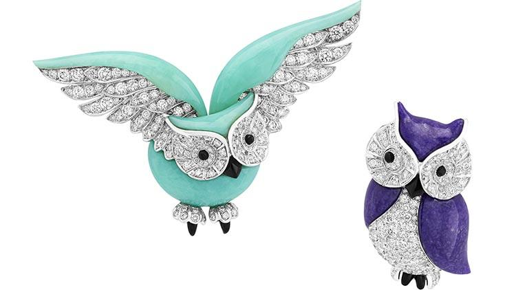 Van Cleef Arpels Noahs Ark Owl with Sugilite Wings Image courtesy of Aventurine
