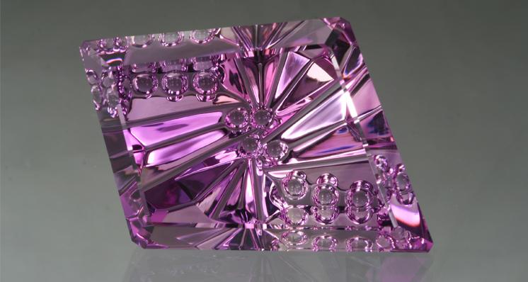 Amethyst DreamscapeTM 53.37 ct cut by John Dyer & CO. Photo by Lydia Dyer