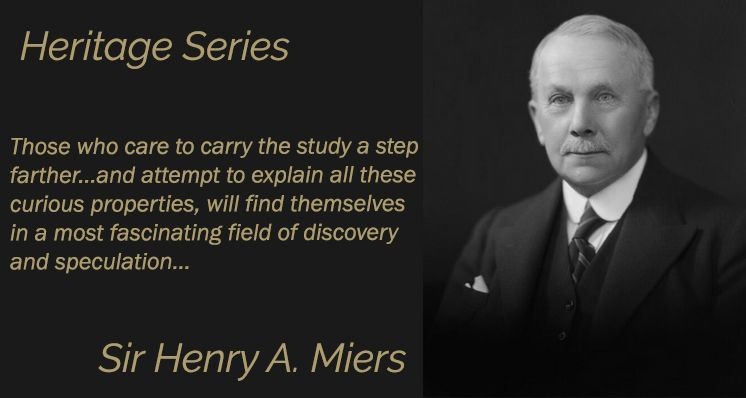 Sir Henry A. Miers - Gem-A's First President